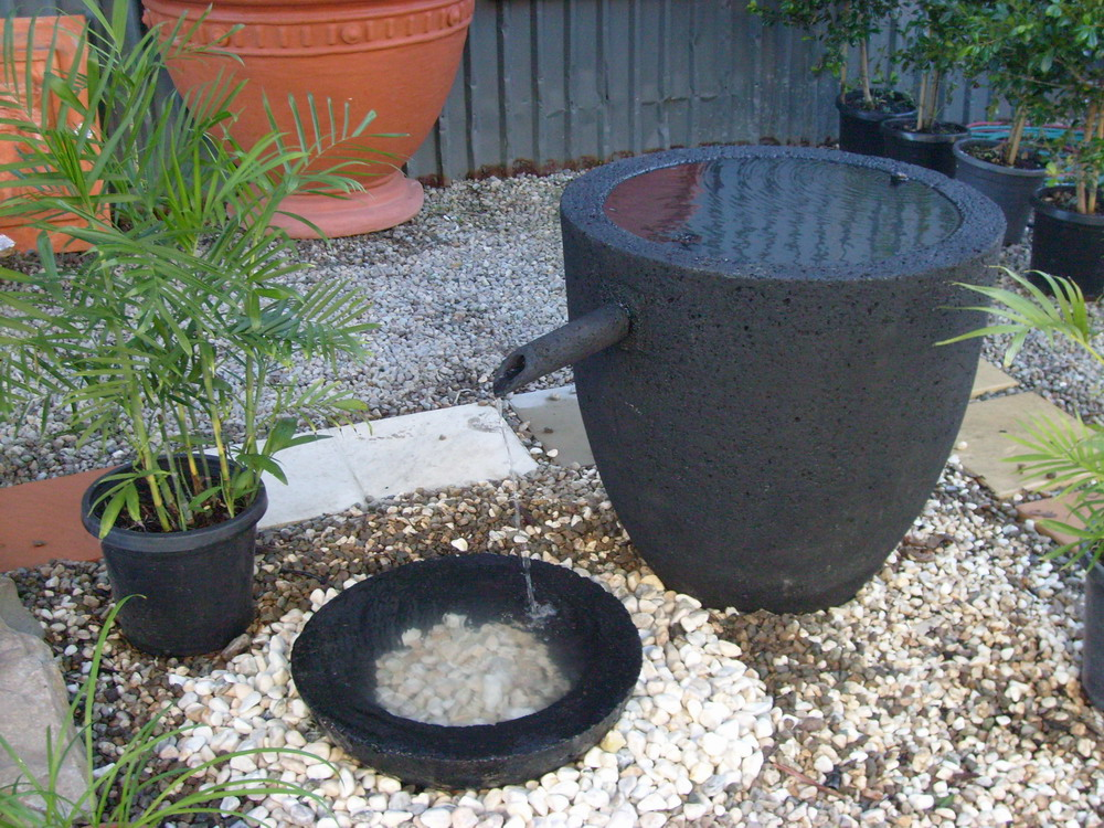 Potanico contemporary garden water features and wall plaques for Japanese water feature